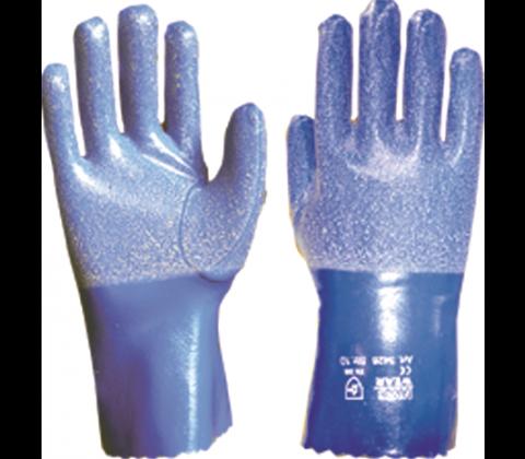Gummierte hansker