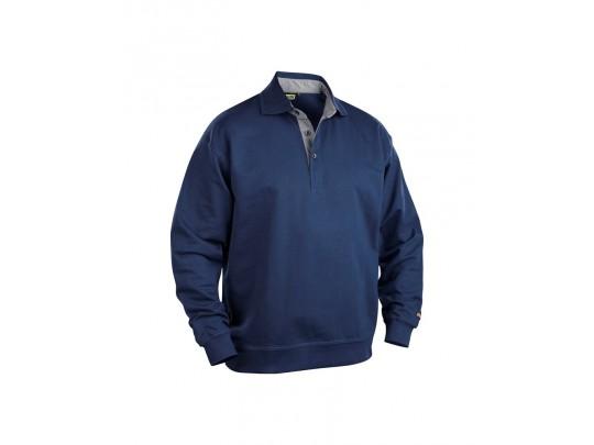 Bläkleder genser med krave